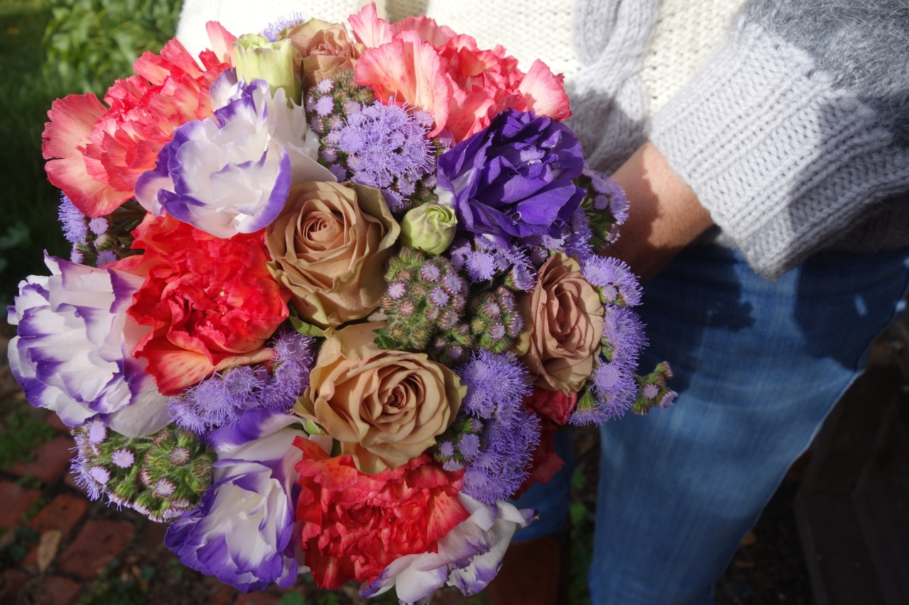 Lisianthus carnation and hynose rose playful bouquet