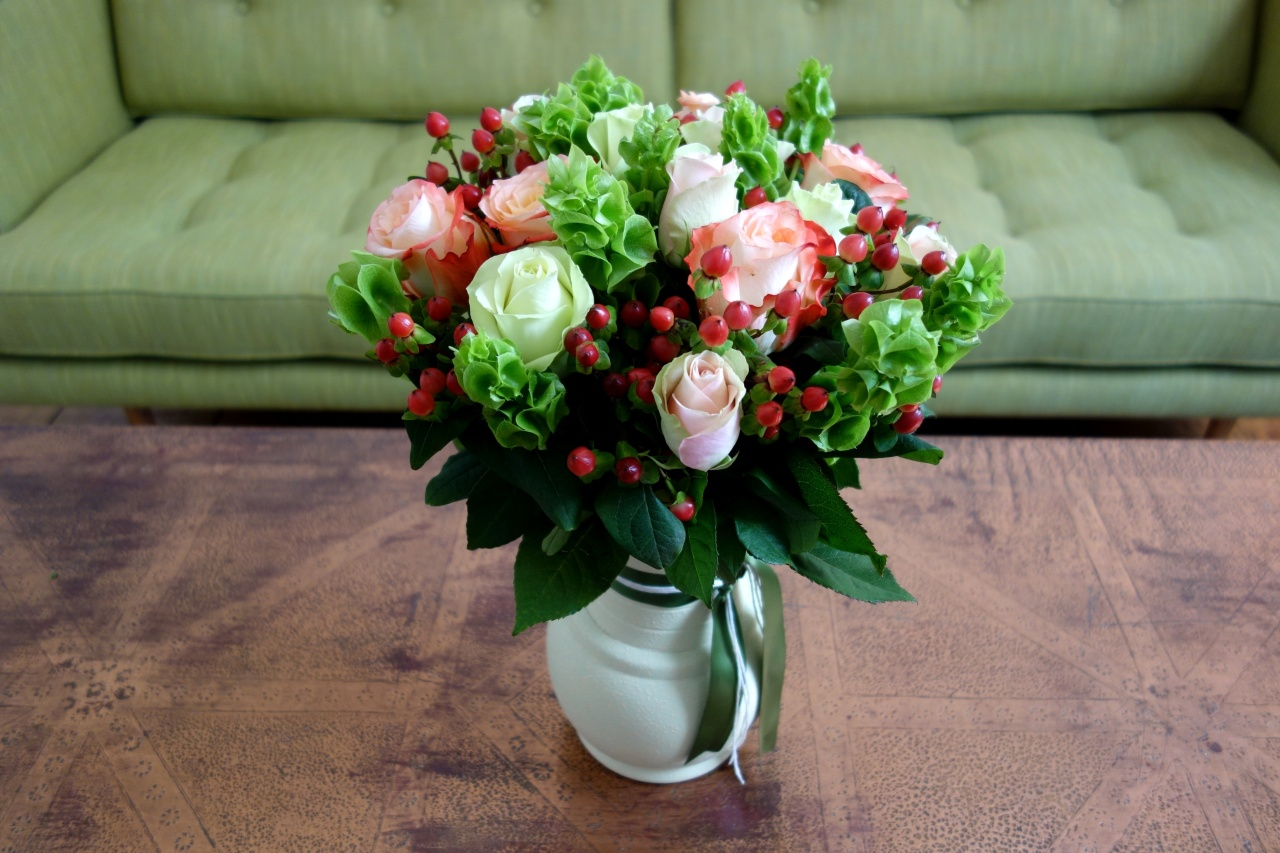 Roses and other flowers ready for delivery