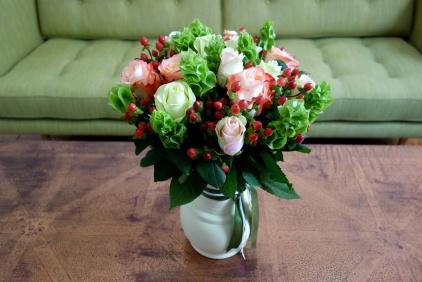Rose & berry arrangement