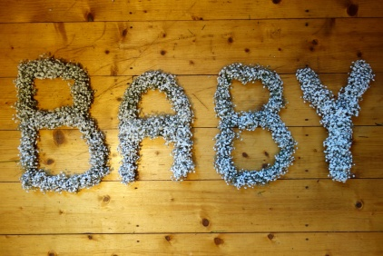 Final flower letters for baby shower