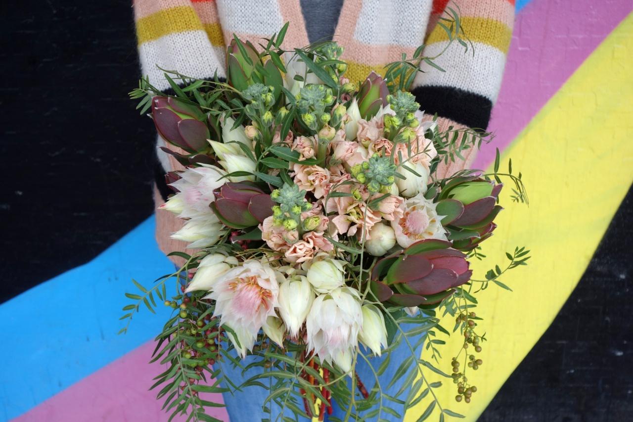 Blushing bride bouquet