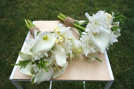 White calla lily bouquets