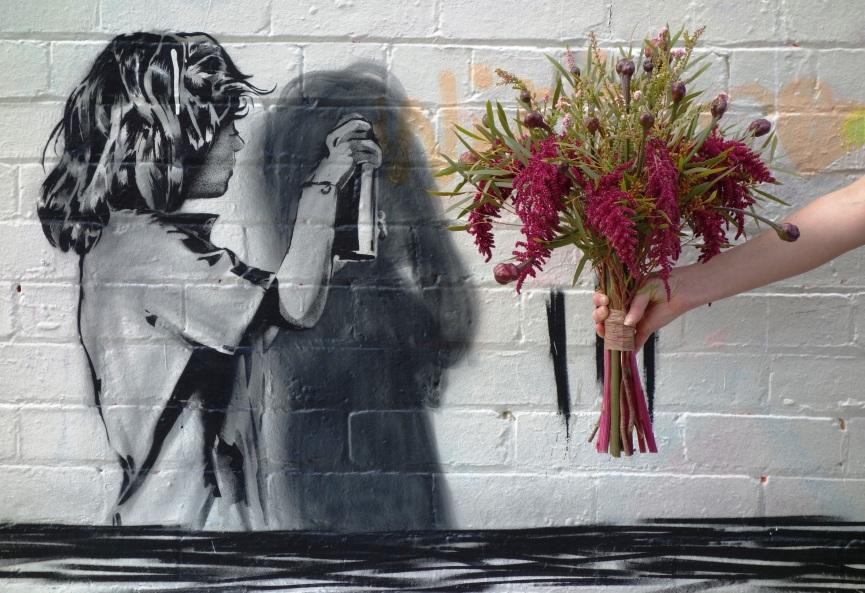 Amaranth, belladonna & eucalyptus bouquet