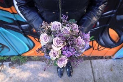 Rose, misty & hyacinth bouquet