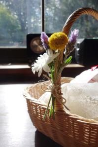 Billy button, lavender & aster