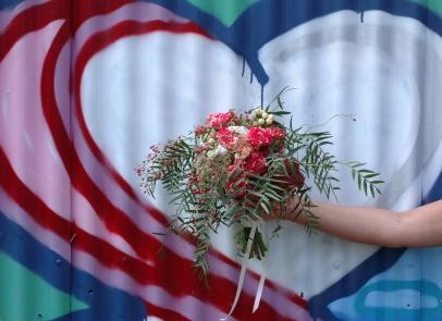 Rose, berry & peppercorn bouquet