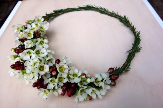 Waxflower crown