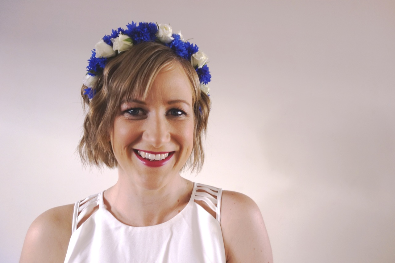 Nat with floral crown for races