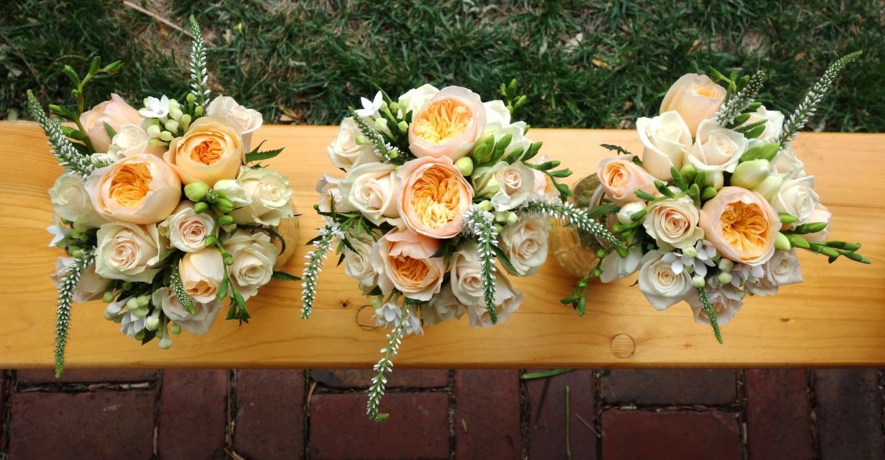 David Austin Juliet rose bouquets