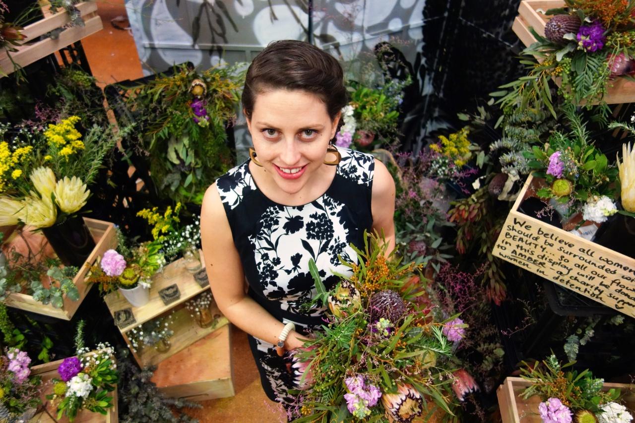 Anna at wedding expo
