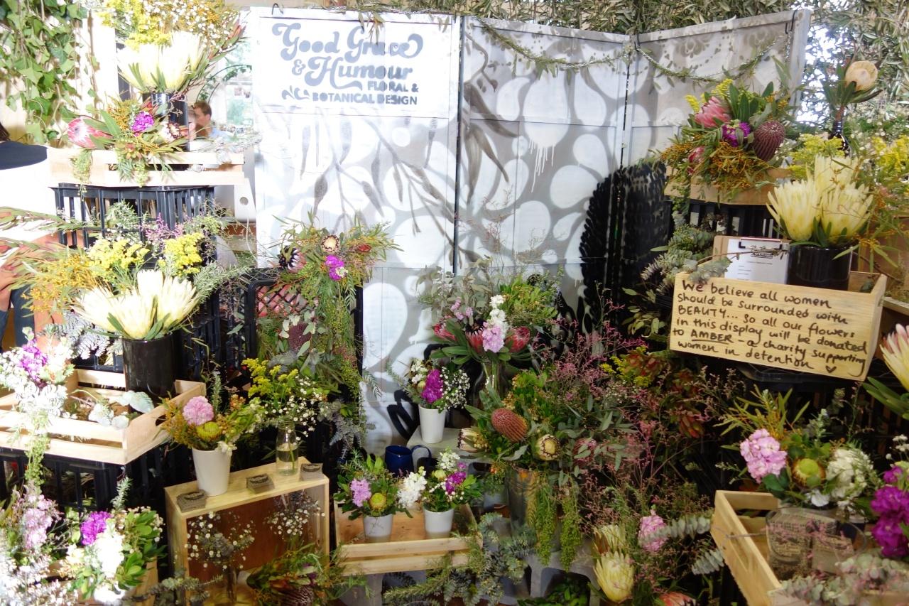Flower stand wedding fair